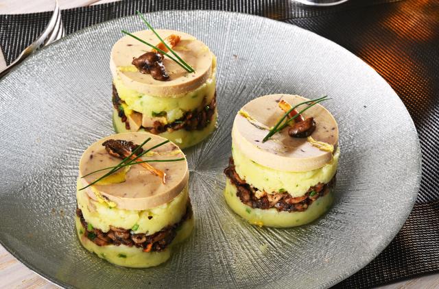 Photo Parmentier de Ratte et son foie gras
