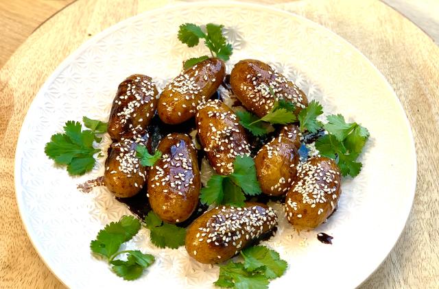 Photo Pommes de terre grenailles rissolées à la Coréenne